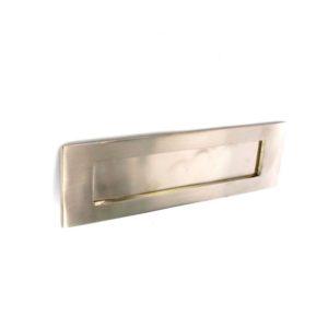Brushed Nickel letter plate 250mm