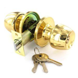 Brass entrance lock knobset 60/70mm
