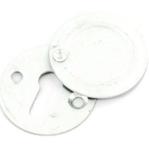 Aluminium escutcheon covered satin 30mm
