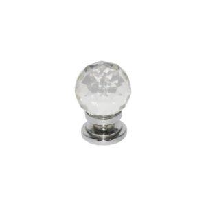 Glass Ball knob Chrome 32mm