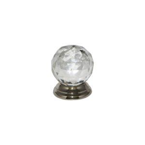 Glass Ball knob Chrome 38mm