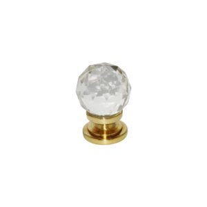 Glass Ball knob PB 32mm