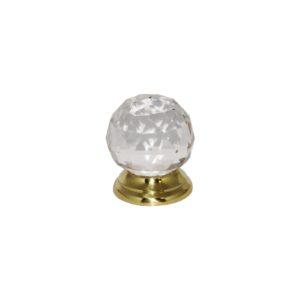 Glass Ball knob PB 38mm