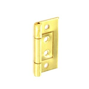 Flush hinges Brass plated 50mm