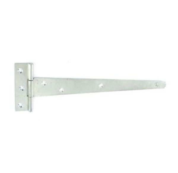Tee hinges light Zinc plated 1.5mm 250mm