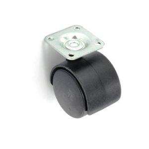 Twin wheel castor plate fix 40mm